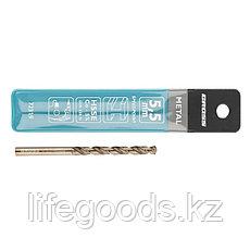 Сверло спиральное по металлу, 5,5 мм, HSS-Co Gross 72319, фото 3