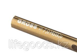 Сверло спиральное по металлу, 7 мм, HSS-Co Gross 72328, фото 2