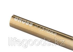 Сверло спиральное по металлу, 7,5 мм, HSS-Co Gross 72331, фото 2