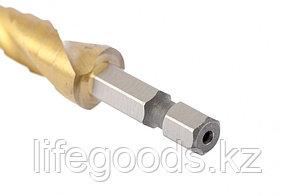 Сверло ступенчатое 4-5-6-7-8-9-10-11-12 мм, HSS, спиральный Профиль, шестигранный хвостовик Matrix 72353, фото 2