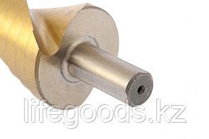 Сверло ступенчатое, 6-8-10-12-14-16-18-20-22-24-26-28-30 мм, HSS, спиральный профиль, трехгранный хвостовик, фото 2