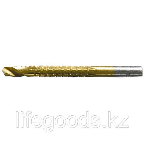 Сверло-фреза, 8 мм, универсальное, нитридтитановое покрытие, цилиндрический хвостовик Matrix 72828, фото 2
