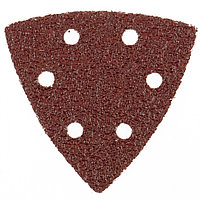 """Треугольник абразивный на ворсовой подложке под """"липучку"""", перфорированный, P 120, 93 мм, 5 шт Matrix 73862"""