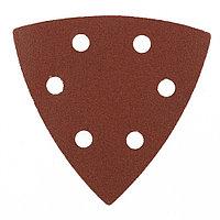 """Треугольник абразивный на ворсовой подложке под """"липучку"""", перфорированный, P 180, 93 мм, 5 шт Matrix 73864"""