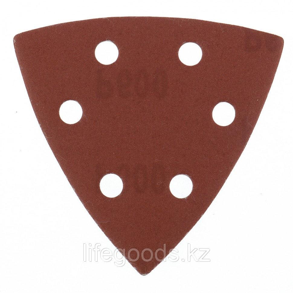 """Треугольник абразивный на ворсовой подложке под """"липучку"""", перфорированный, P 600, 93 мм, 5 шт Matrix"""