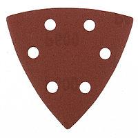 """Треугольник абразивный на ворсовой подложке под """"липучку"""", перфорированный, P 600, 93 мм, 5 шт Matrix 73869"""