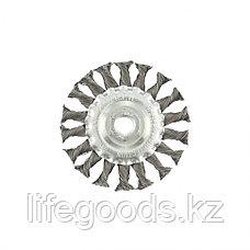 Щетка для УШМ 100 мм, М14, плоская, крученая проволока 0,35 мм Matrix, фото 3