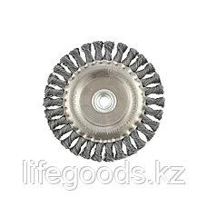 Щетка для УШМ 150 мм, М14, плоская, крученая проволока 0,5 мм Matrix, фото 2