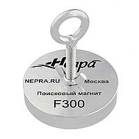 Поисковый магнит односторонний Непра F300, усилие отрыва 300 кг, фото 1
