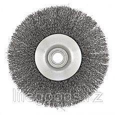 """Щетка для УШМ, 125 мм, М14, """"тарелка"""", витая проволока Сибртех, фото 2"""