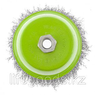 """Щетка для УШМ, 125 мм, М14, """"чашка"""", витая проволока Сибртех, фото 2"""