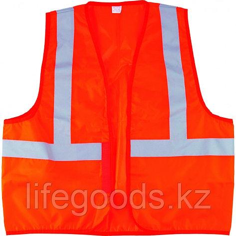 Жилет сигнальный, оранжевый, размер XL Сибртех, фото 2