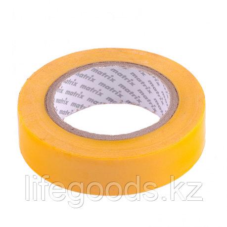 Изолента ПВХ, 15 мм х 10 м, желтая, 150 мкм Matrix, фото 2