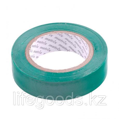 Изолента ПВХ, 15 мм х 10 м, зеленая, 150 мкм Matrix, фото 2