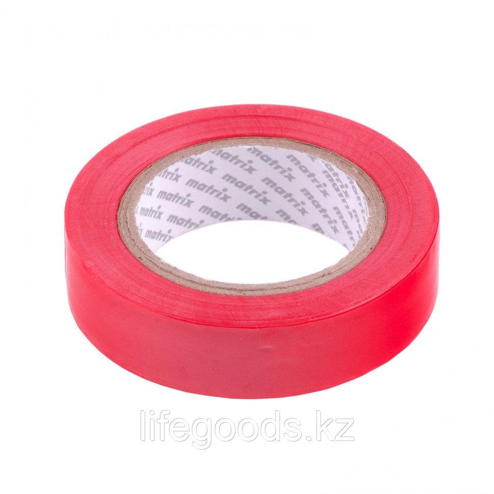Изолента ПВХ, 15 мм х 10 м, красная, 150 мкм Matrix
