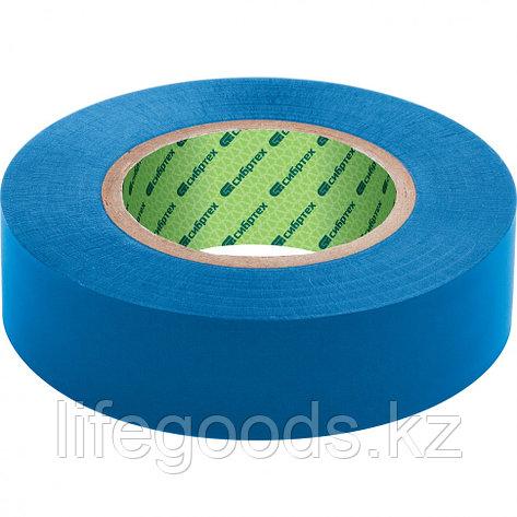 Изолента ПВХ, 15 мм х 10 м, синяя Сибртех, фото 2