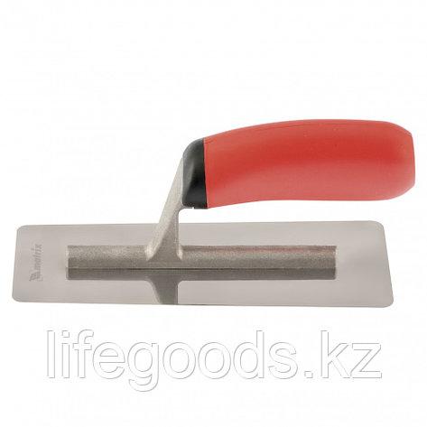 Кельма для венецианской штукатурки, нержавеющая сталь, 200 х 80 мм, двухкомпонентная ручка Matrix, фото 2