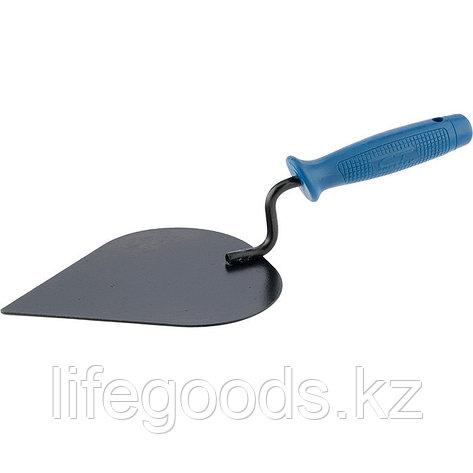 Кельма штукатура, стальная, пластиковая ручка Россия Сибртех, фото 2