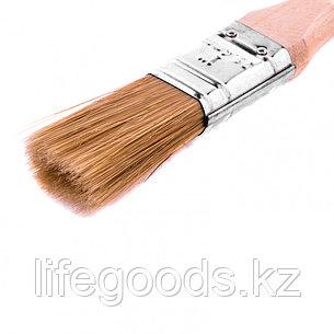 """Кисть плоская """"Евро"""" 1, натуральная щетина, деревянная ручка Mtx, фото 2"""