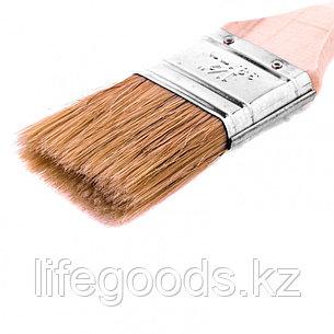"""Кисть плоская """"Евро"""" 1,5"""", натуральная щетина, деревянная ручка Mtx, фото 2"""