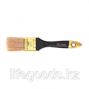 """Кисть плоская """"Профи"""" 1,5"""", натуральная щетина, деревянная ручка Mtx, фото 2"""