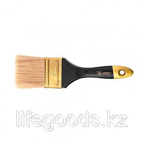 """Кисть плоская """"Профи"""" 2,5"""", натуральная щетина, деревянная ручка Mtx, фото 2"""