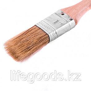 """Кисть плоская """"Стандарт"""" 1, натуральная щетина, деревянная ручка Mtx, фото 2"""
