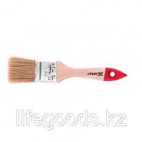 """Кисть плоская """"Стандарт"""" 1,5"""", натуральная щетина, деревянная ручка Mtx, фото 2"""