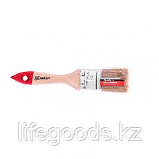 """Кисть плоская """"Стандарт"""" 1,5"""", натуральная щетина, деревянная ручка Mtx, фото 3"""