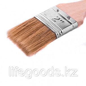 """Кисть плоская """"Стандарт"""" 2"""", натуральная щетина, деревянная ручка Mtx, фото 2"""