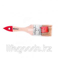 """Кисть плоская """"Стандарт"""" 2"""", натуральная щетина, деревянная ручка Mtx, фото 3"""