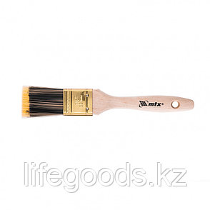 Кисть плоская Golden 1.5, искусственная щетина, деревянная ручка Mtx, фото 2