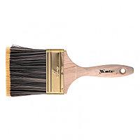 Кисть плоская Golden 4, искусственная щетина, деревянная ручка Mtx