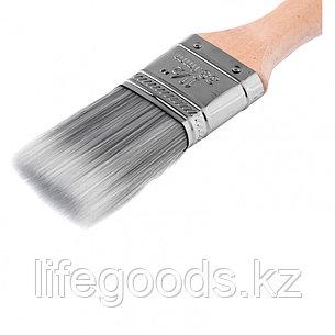 Кисть плоская Platinum 1.5, искусственная щетина, деревянная ручка Mtx, фото 2