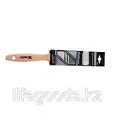 Кисть плоская Platinum 1.5, искусственная щетина, деревянная ручка Mtx, фото 3