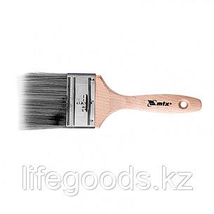 Кисть плоская Platinum 3, искусственная щетина, деревянная ручка Mtx, фото 2