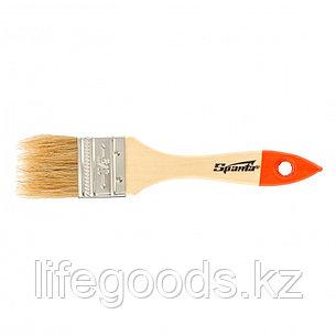 Кисть плоская SlimLine 1,5, натуральная щетина, деревянная ручка Sparta, фото 2