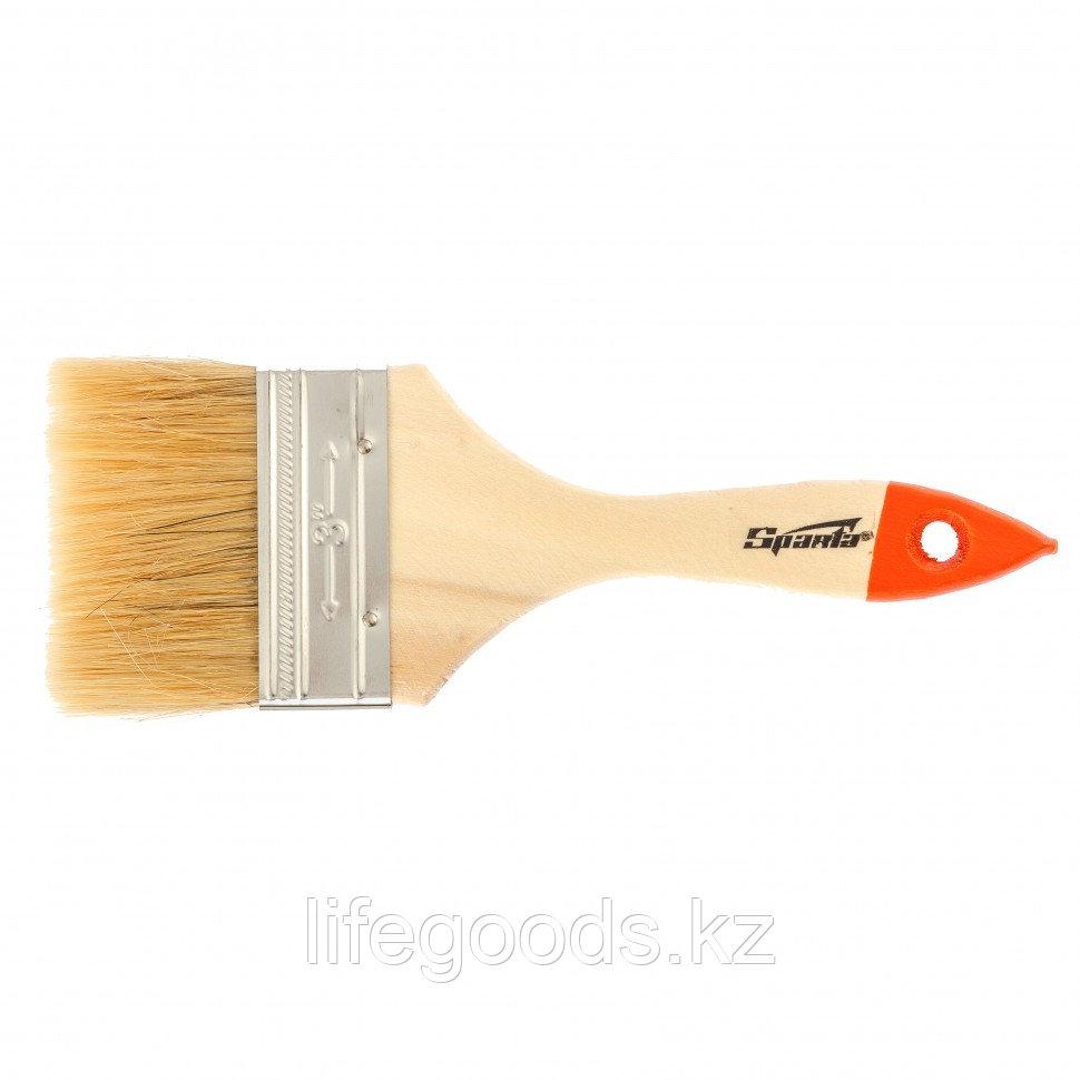 Кисть плоская SlimLine 3, натуральная щетина, деревянная ручка Sparta