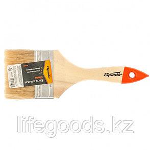 Кисть плоская SlimLine 3, натуральная щетина, деревянная ручка Sparta, фото 2