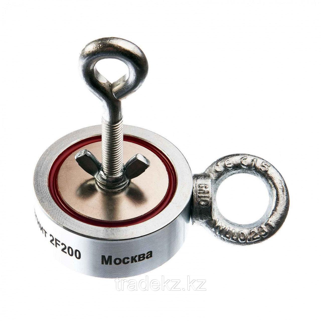 Поисковый магнит двухсторонний Непра 2F200, усилие отрыва 200 кг