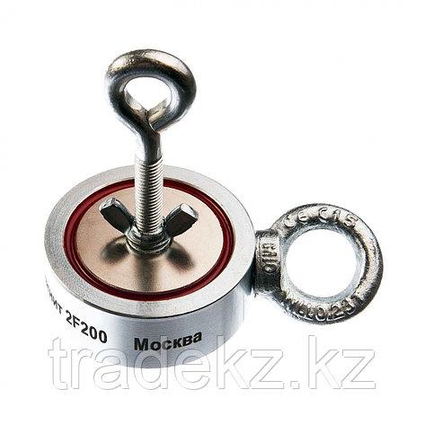 Поисковый магнит двухсторонний Непра 2F200, усилие отрыва 200 кг, фото 2