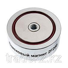 Поисковый магнит двухсторонний Непра 2F200, усилие отрыва 200 кг, фото 3