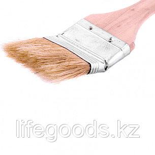 Кисть радиаторная 2, натуральная щетина, деревянная ручка Mtx, фото 2