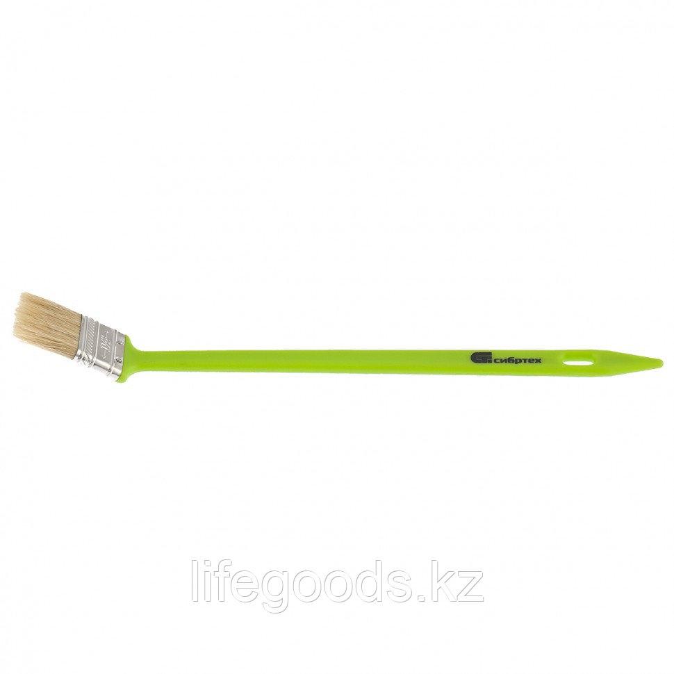 Кисть радиаторная 36 мм, натуральная щетина, пластиковая ручка Сибртех