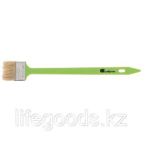 Кисть радиаторная 50 мм, натуральная щетина, пластиковая ручка Сибртех, фото 2
