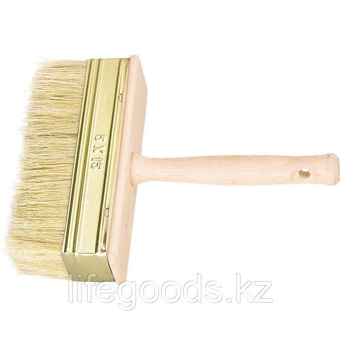 Кисть-макловица, 40 х 150 мм, натуральная щетина, деревянный корпус, деревянная ручка Россия
