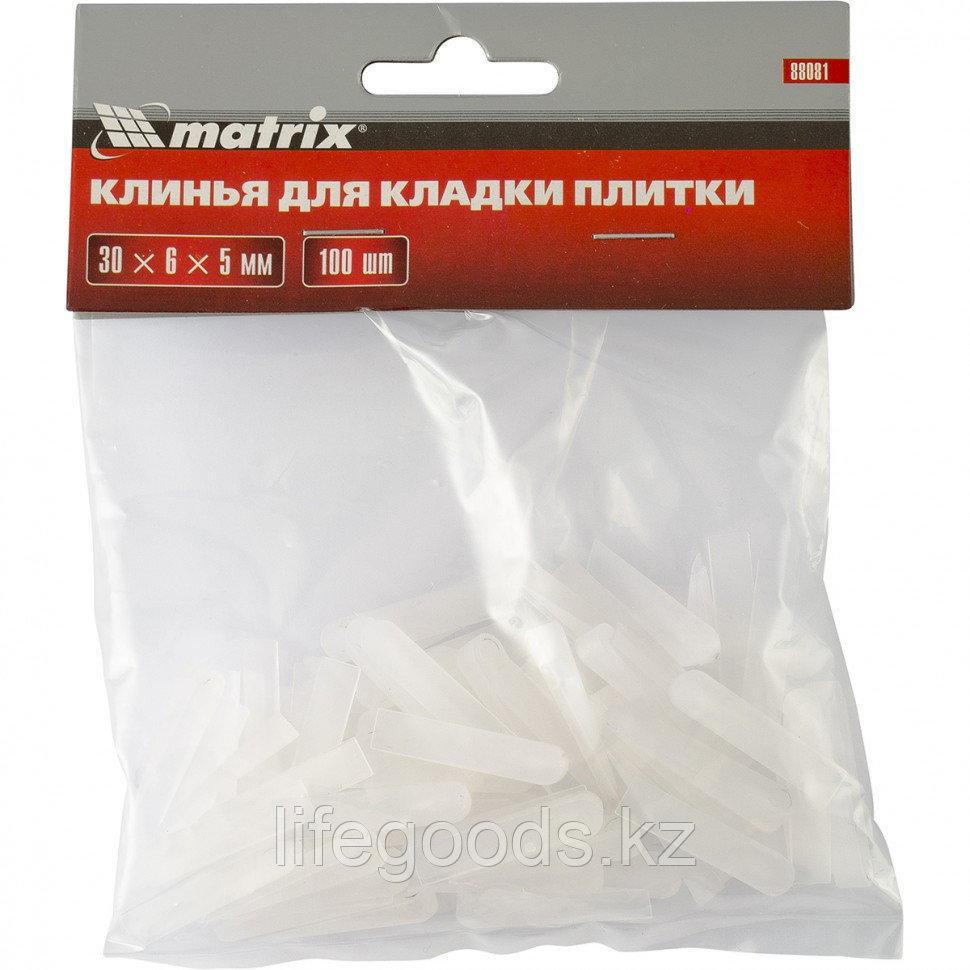 Клинья для кладки плитки 30 х 6 х 5 мм упаковка 100 шт Matrix