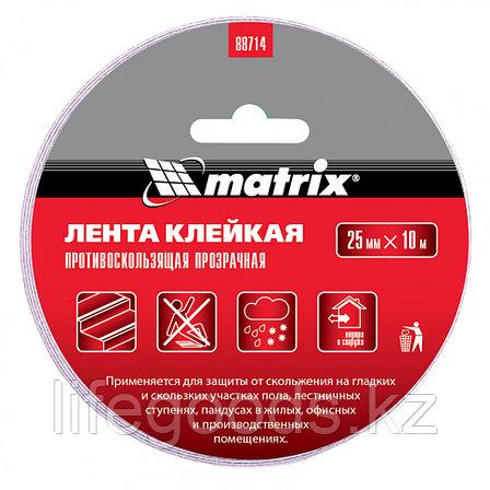 Лента клейкая противоскользящая, прозрачная 25 мм x 10 м Matrix, фото 2