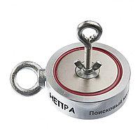 Поисковый магнит двухсторонний Непра 2F400, усилие отрыва 400 кг, фото 1