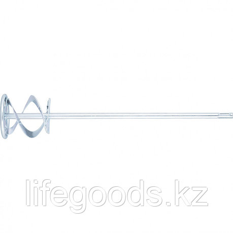 Миксер для красок и штукатурных смесей, 80 х 400 мм, оцинкованный, хвостовик SDS Plus Matrix, фото 2
